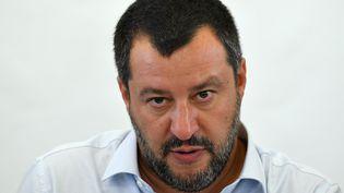 Matteo Salvini, le 9 juillet 2019 à Mineo, en Italie (ANDREAS SOLARO / AFP)