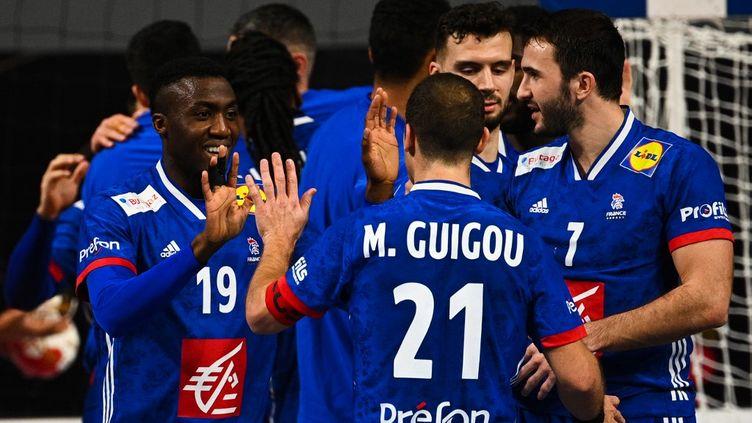 L'équipe de France de handball lors du Mondial en Égypte  (ANNE-CHRISTINE POUJOULAT / POOL)