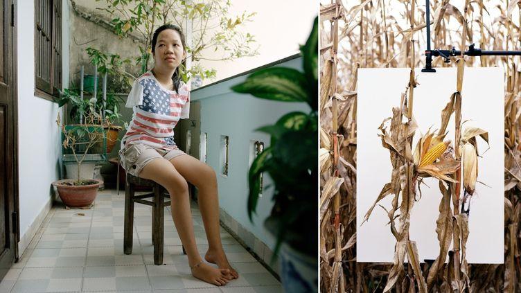 Thuy'Linh, 21 ans, Hô Chi Minh-Ville - VietNam. Troisième génération de victimes de l'Agent organge souffrant de malformation génétique.  (Mathieu Asselin)