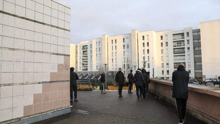 La cité des 3 000 à Aulnay-sous-Bois (Seine-Saint-Denis), où aeu lieu l'interpellation de Théo,le 2février 2017. (MAXPPP)
