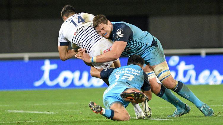 Montpellier-UBB, en novembre 2020. Le match retour prévu pour la 22e journée est en suspens, pour suspicion de Covid-19. (JEAN MICHEL MART / MAXPPP)