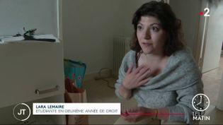 Lara Lemaire, étudiante en deuxième année de droit. (France 2)