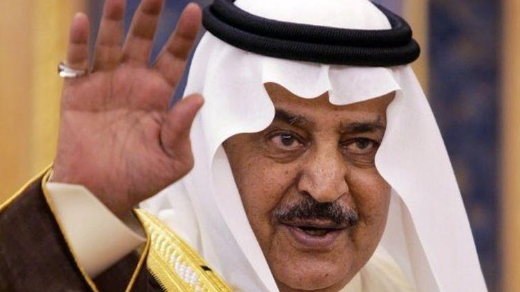 Nayef ben Abdel Aziz, 78 ans, était jusque là ministre del'Intérieur. (HASSAN AMMAR / AFP)