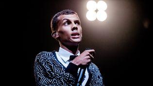 Le chanteur belge Stromae à Biddinghuizen (Pays-Bas), le 16 août 2014. (FERDY DAMMAN / ANP MAG / AFP)