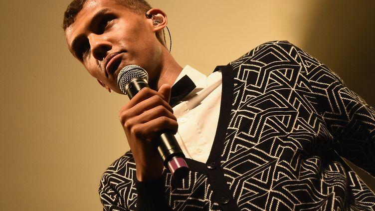 Le chanteur Stromae à Austin, au Texas (Etats-Unis), le 18 mars 2015. (MICHAEL LOCCISANO / GETTY IMAGES NORTH AMERICA / AFP)