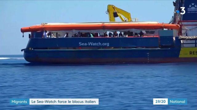 Italie : le bateau humanitaire Sea-Watch force le blocus des autorités