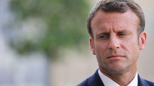 Emmanuel Macron, le 22 juillet 2019, à Paris. (LUDOVIC MARIN / AFP)