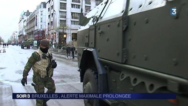 Bruxelles ville morte, alerte maximale maintenue pour lundi