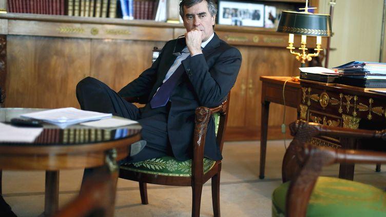 L'ancien ministre du Budget, Jérôme Cahuzac, le 8 mars 2013 à Bercy. (BERNARD BISSON / SIPA)