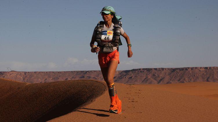 Gloria Nasr lors du dernier Marathon des Sables