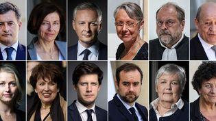 Le Premier ministre Jean Castex et une partie de son gouvernement, annoncé le 6 juillet 2020. (LUDOVIC MARIN / AFP)