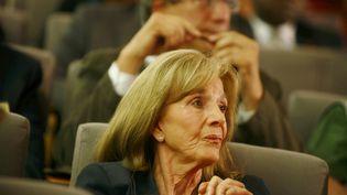 L'avocate Gisèle Halimi, le 18 juin 2010 lors du 35e congrès du Parti communiste français, organiséà La Défense, dans les Hauts-de-Seine. (FANNY / REA)