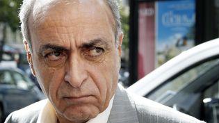 Ziad Takieddine à la sortie de son audition par le juge Renaud Van Ruymbeke le 14 septembre 2011 à Paris. (THOMAS SAMSON / AFP)