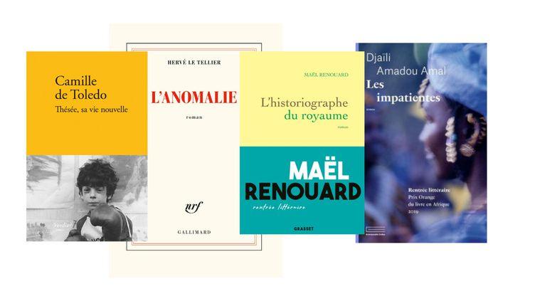 Les quatre ouvrages finalistes au Goncourt 2020. (Verdier / Gallimard / Grasset / Emmanuelle Colas)