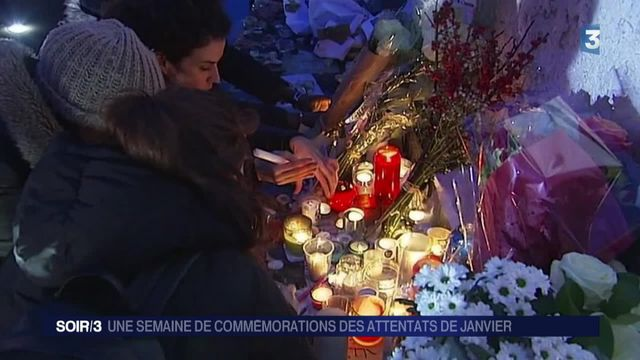 Attentats de janvier : une semaine d'hommages