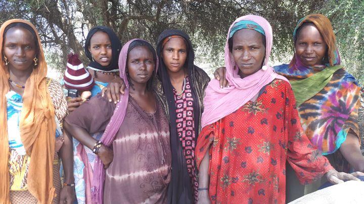 Des femmes réfugiées dans la région du lac Tchad (CLAUDE GUIBAL / RADIO FRANCE)