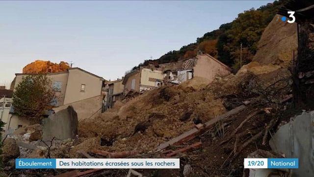 Éboulement : des maisons écrasées sous les rochers