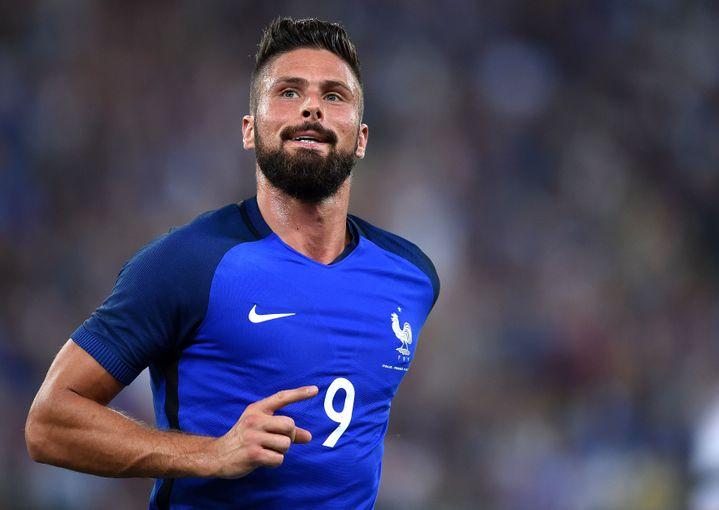 L'attaquant de l'équipe de France, Olivier Giroud