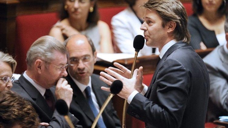 François Baroin, ministre du Budget, le 6 juillet 2010 à l'Assemblée (AFP - Eric Feferberg)