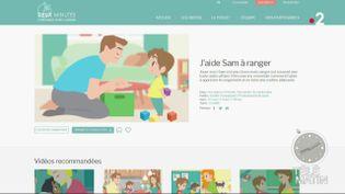 """Capture d'écran du site """"Deux minutes pour mieux comprendre l'autisme"""". (FRANCE 2)"""