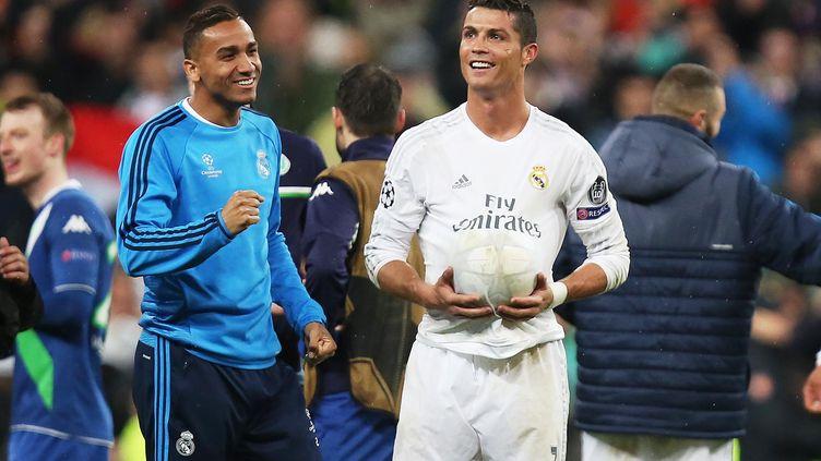 Cristiano Ronaldo est reparti avec le ballon du match après son triplé contre Wolfsburg (JAMES MARSH / BACKPAGE IMAGES LTD)