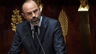 Le Premier ministre, Edouard Philippe, lors de son discours de politique générale, le 12 juin 2019 à l'Assemblée nationale, à Paris. (ALAIN JOCARD / AFP)