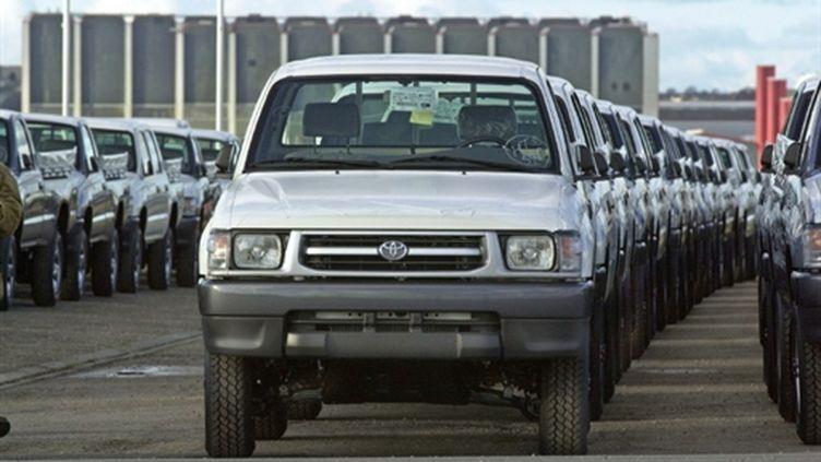 Exportations de voitures japonaises (ici des Toyota débarquées en Europe) (archives) (AFP/MYCHELE DANIAU)