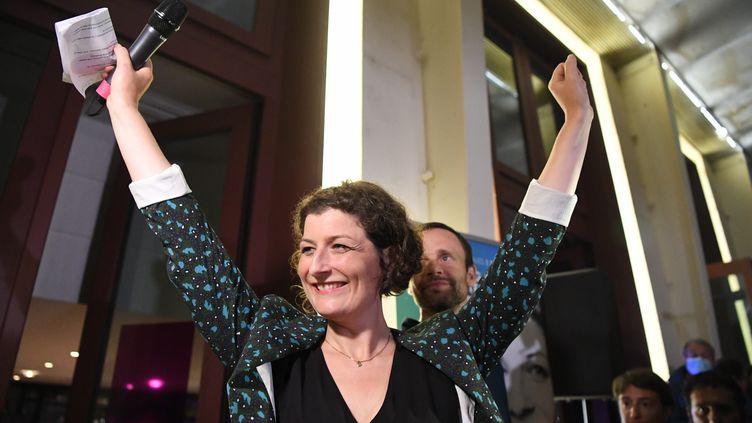 Jeanne Barseghian, nouvelle maire de Strasbourg, le 28 juin 2020. (C?DRIC JOUBERT / MAXPPP)
