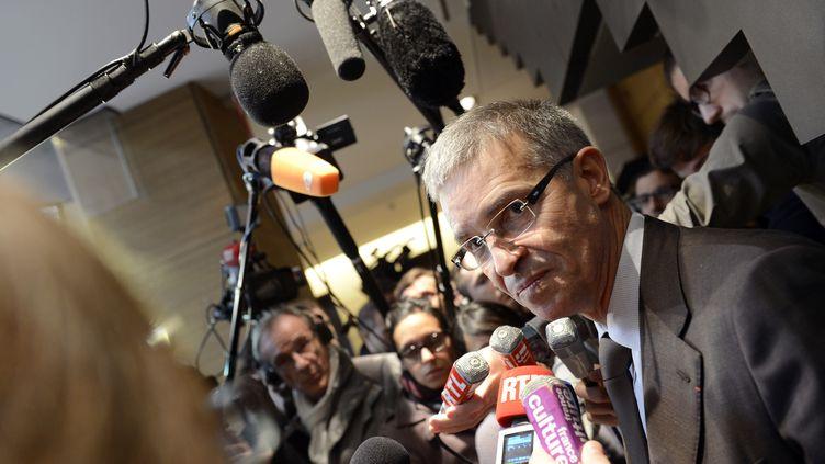 Patrick Bernasconi, le négociateur du Medef à l'issue de la présentation des nouvelles propositions de son syndicat, vendredi 11 janvier 2013. (BERTRAND GUAY / AFP)