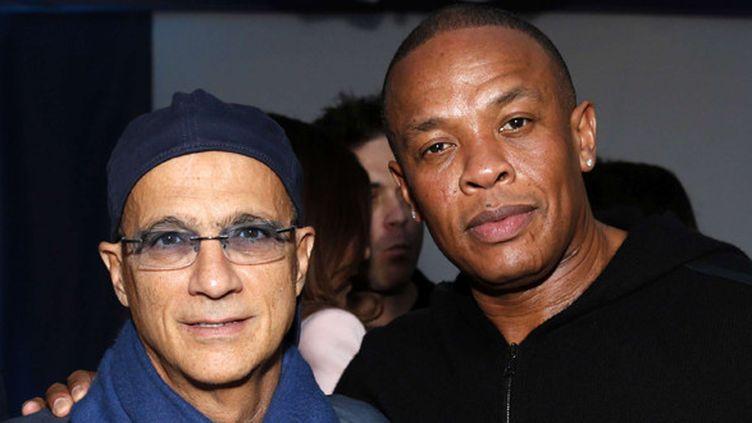 Jimmy Iovine et Dr Dre fondateurs en 2006 de Beats Electronics (ici en février 2013).  (Todd Williamson / AP/Sipa)