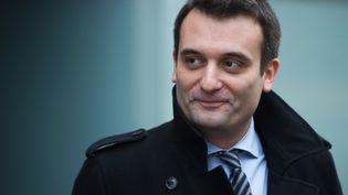 Le vice-président du Front national, Florian Philippot, le 1er décembre 2015 à Delle (Territoire de Belfort). (SEBASTIEN BOZON / AFP)