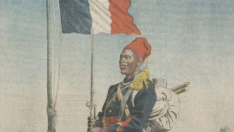 «Nos soldats d'Afrique», vus par le «Petit Journal» (extrait de la une du supplément du dimanche du 16 mars 1913). (Le Petit journal / RetroNews-BnF / BnF-Partenariats)