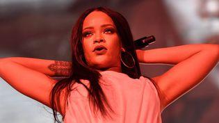 Rihanna en concert à Stockholm l4 juillet 2016  (MARCUS ERICSSON / TT NEWS AGENCY / TT NEWS AGENCY/AFP)