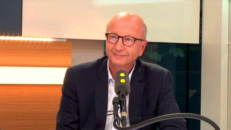 Martin Piechowski, PDG de Chronopost, filiale de La Poste, le 14 septembre 2017 sur franceinfo. (FRANCEINFO / RADIOFRANCE)