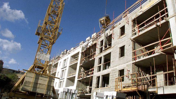 Un immeuble en construction à Nantes. (MAXPPP)