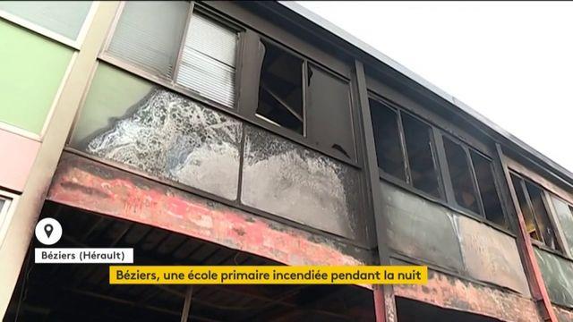 Béziers : une école primaire détruite durant une nuit de violences