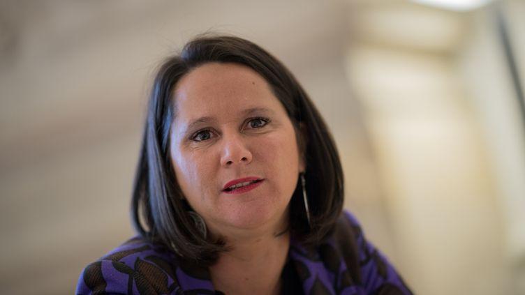 La maire de Nantes, Johanna Rolland, le 4 décembre 2019. (LOIC VENANCE / AFP)