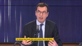 Jean-Pierre Farandou, invité sur franceinfo le 26 février. (FRANCEINFO / RADIOFRANCE)