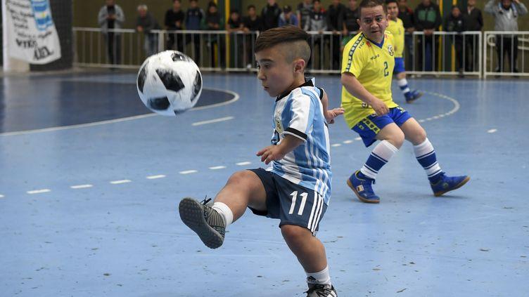 Le joueur argentin Diego Serpentini lors de la Copa America à Buenos Aires, le 25 octobre 2018. (EITAN ABRAMOVICH / AFP)