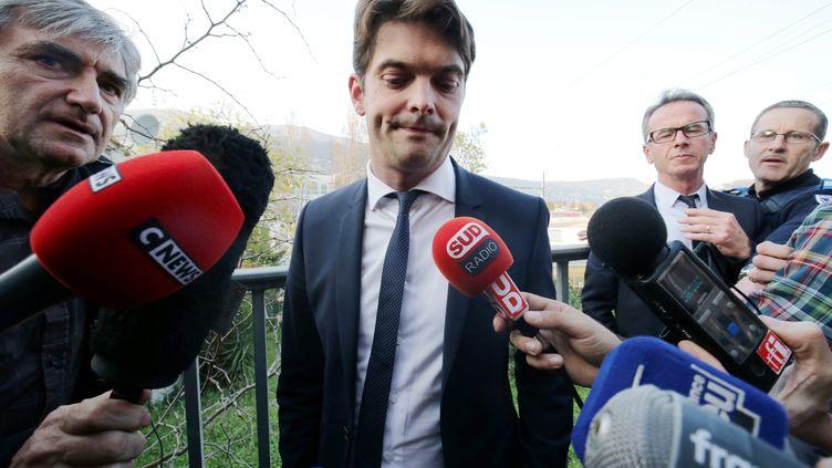 Jérôme Viaud, le maire de Grasse, le 16 mars 2017. (FRANCK FERNANDES / MAXPPP)