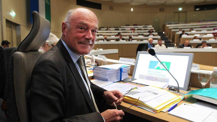 Le président de la région Aquitaine, Alain Rousset, le 19 octobre 2015 à Bordeaux. (  MAXPPP)