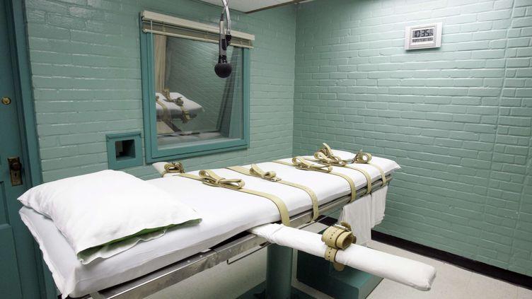 La chambre d'exécution de la prison de Huntsville, au Texas (Etats-Unis), le 27 mai 2008. (PAT SULLIVAN / AP / SIPA)