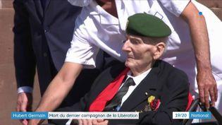 Mardi 12 octobre, le dernier compagnon de la Libération est mort à 101 ans. Hubert Germain était devenu une véritable figure de la France libre. Retour sur un parcours exemplaire. (Capture d'écran France 3)