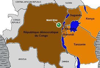 La région des Grands Lacs regroupe la RDC, l'Ouganda, le Rwanda, le Burundi, la Tanzanie et le Kenya. (Géopolis)
