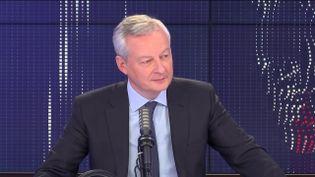 Bruno Le Maire, ministre de l'Economie, sur franceinfo le 10 mai 2021. (FRANCEINFO / RADIOFRANCE)