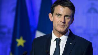 Manuel Valls prononce un discours à Nancy (Meurthe-et-Moselle), le 2 décembre 2016. (JEAN-CHRISTOPHE VERHAEGEN / AFP)