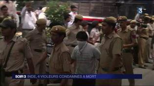Les quatre violeurs ont été condamnés à la pendaison. (FRANCE 3)