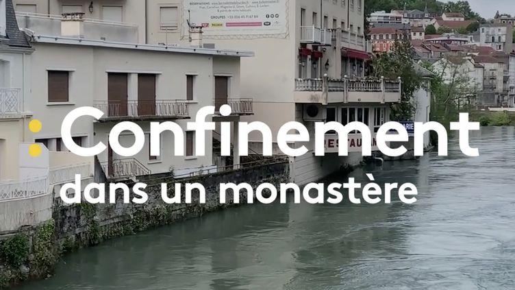 Reportage au monastère des Clarisses, à Lourdes (Hautes-Pyrénées). (CAPTURE ECRAN DAILYMOTION FRANCEINFO)