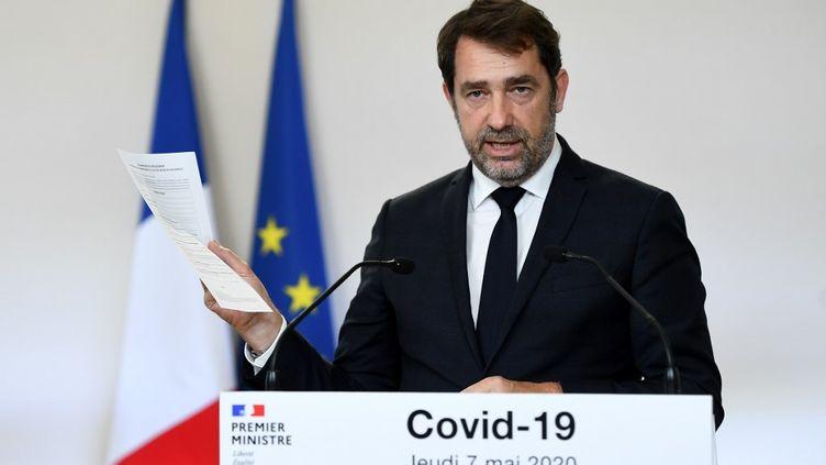 Christophe Castaner, le 7 mai 2020, à l'Hôtel Matignon, à Paris. (CHRISTOPHE ARCHAMBAULT / POOL)