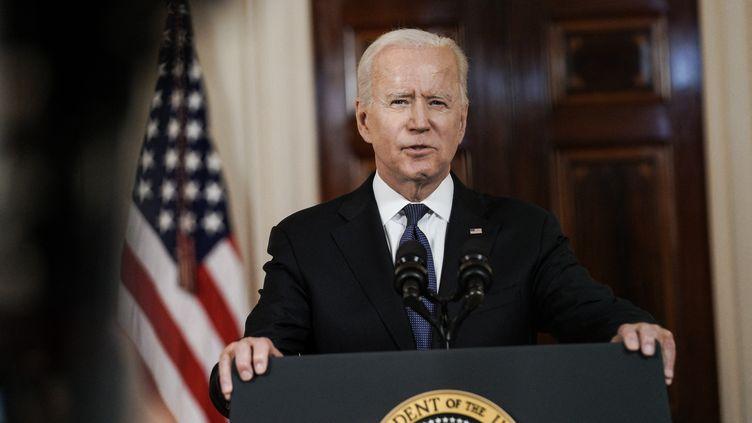 Le président Joe Biden lors d'une conférence de presse à Washington, le 20 mai 2021. (SPUTNIK / AFP)